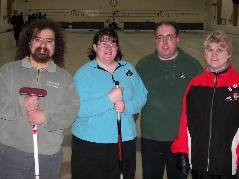 "Galen ""The Hair"" Silversmith's team, with Joanna and John Berube and Carol Keating 1"
