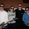 Paul Vigeant, Amy and Mike Hawrylchak, and Christine Edgerton with air guitars
