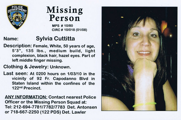 Search for Sylvia Cuttitta November 13 2010