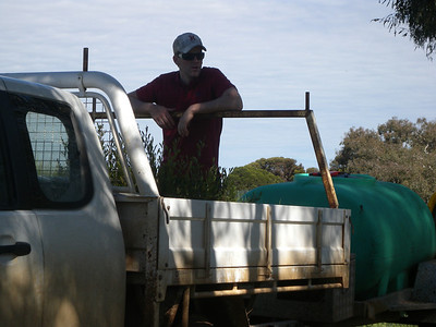 Tim Hatt from Western Water supplied plants and water for todays planting