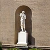 Crane Estate: Casino: Statue in niche and bas relief