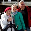 Newburyport: Schooner Adventure: 90-year-old lady at wheel of 90-year-old ship