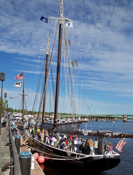 Newburyport: Schooners Adventure and Alabama from boardwalk
