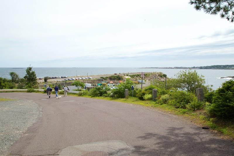 Rockport: Near Granite Pier: Approach to Flat Ledge Quarry