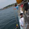 Schooner Ardelle: Snagging lobster buoy