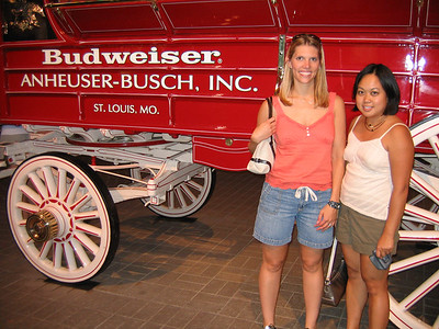 At the Anheuser-Busch Brewery Tour
