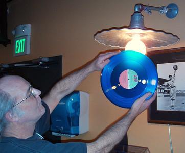 Oooh!   The pretty blue vinyl (Genesis LP).