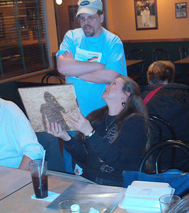 Sandy shows Jeff a limited edition Steven Wilson LP.