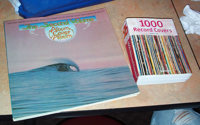 Some cool album cover books were brought.