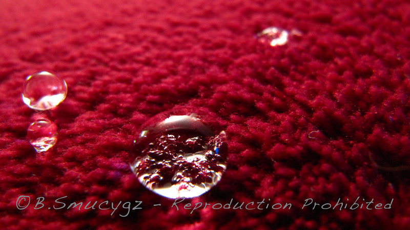 Water on fleece