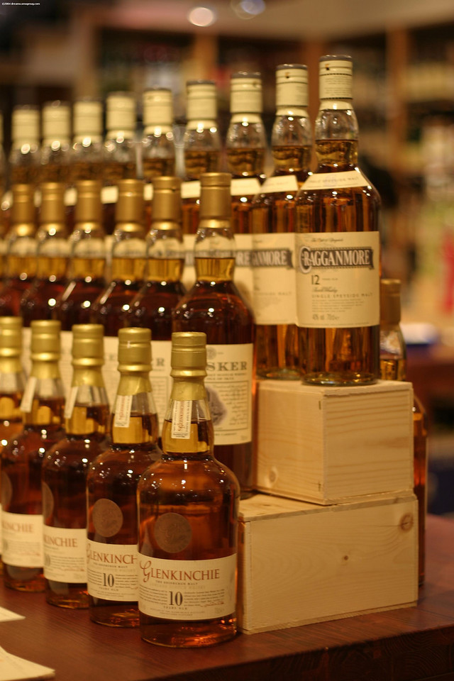A couple of very good whiskey bottles: Glenkinchie 10 yr, Talisker and Cragganmore 12 yr