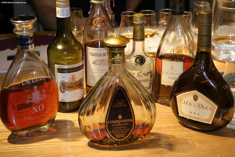 All the bottles that we've tasted that evening
