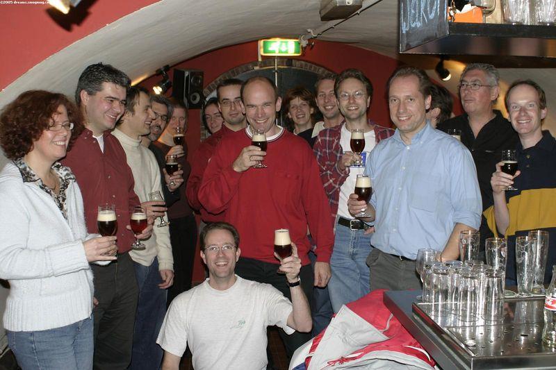ENIAC alumni for a toast