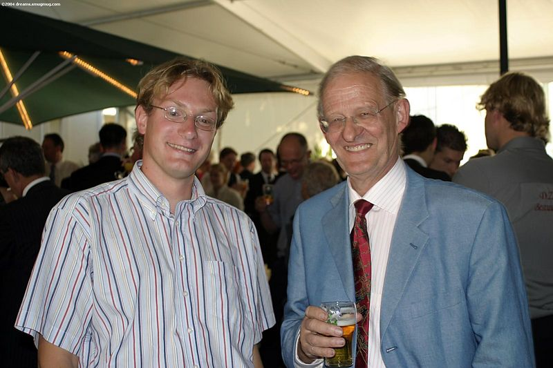 Eelco and Karel (former dean of Computer Science)