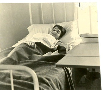 Bob Lyons in the infirmary