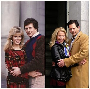 Mike Spound and Heidi Bohay, taken 30 years apart