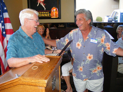 Toni Finocchio received recognition for his ready advice as Past President (2011-2012)