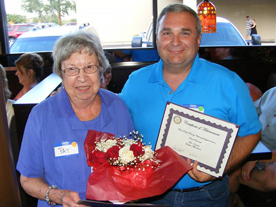 Pat Tuttle and Paul Perreault both received recognition for years of perfect attendance.  Pat has also been our club's Rotary Foundation Chair for many years and Paul has been serving as our own Four Peaks Rotary Foundation Chair for many years also.