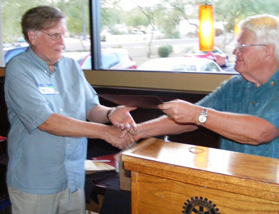 """Bill Pape was thanked for his dedication and contributions to the club as Membership Chair. Bill took the District's """"Ignite"""" program and ran with it, ultimately earning our club multiple District 5510 achievement awards."""