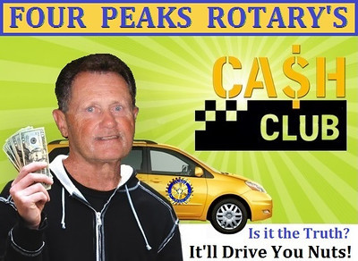 """After the meal and the awards ceremony was complete, Jerry Berna hosted an all-new Rotary trivia game show called """"Cash Club"""""""