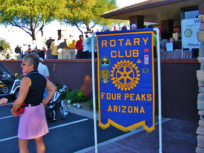 Our club banner welcoming golfers at Rio Verde Country Club
