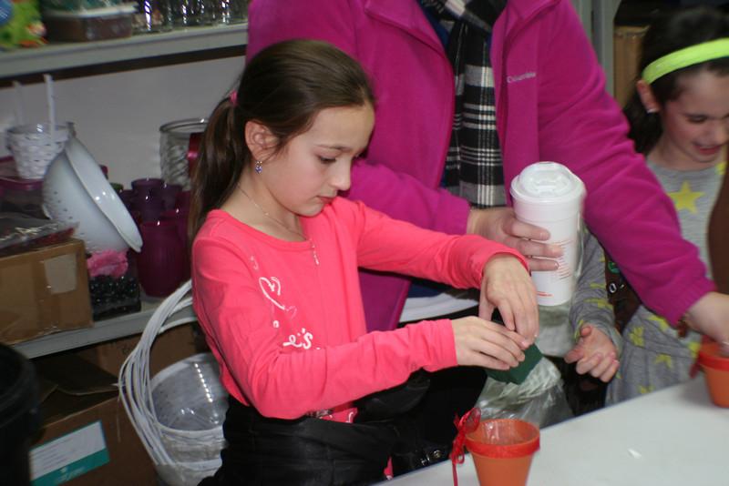 GS Flower making class