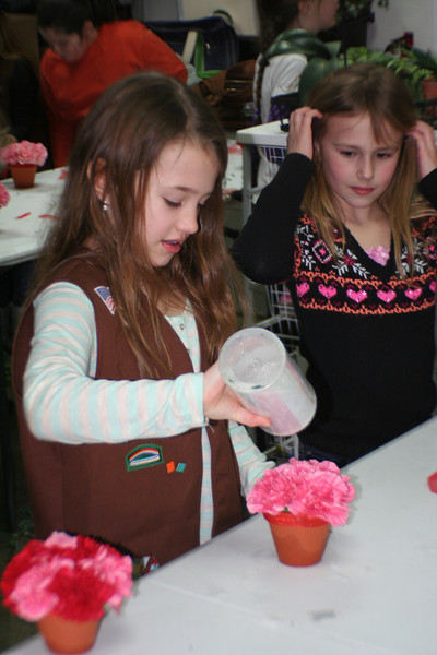 GS Flower making class