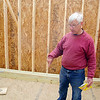 Habitat for Humanity is working a house on Oakland Street in Fitchburg on Friday around noon. Volunteer Carpenter Bob Smith from Leominster talks about the house as he gave a tour. SENTINEL & ENTERPRISE/JOHN LOVE