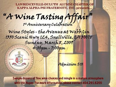 LDAC 1st Year Anniversary - Wine Styles