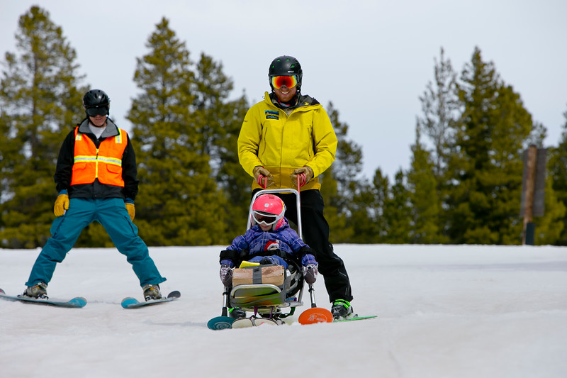 Adaptive Sports Ladies Clinic at Crested Butte Mountain Resort, Colorado on March 25, 2017.  (Photo/Nathan Bilow)