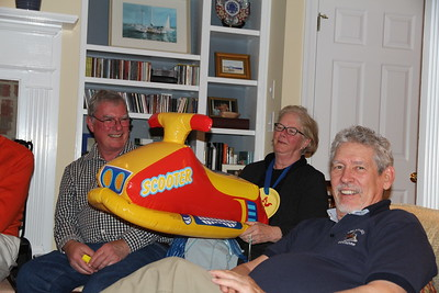 Rich is so happy that that he will be able to have this scooter in his home - Ed is trying very hard to not be disappointed that he didn't win again.....