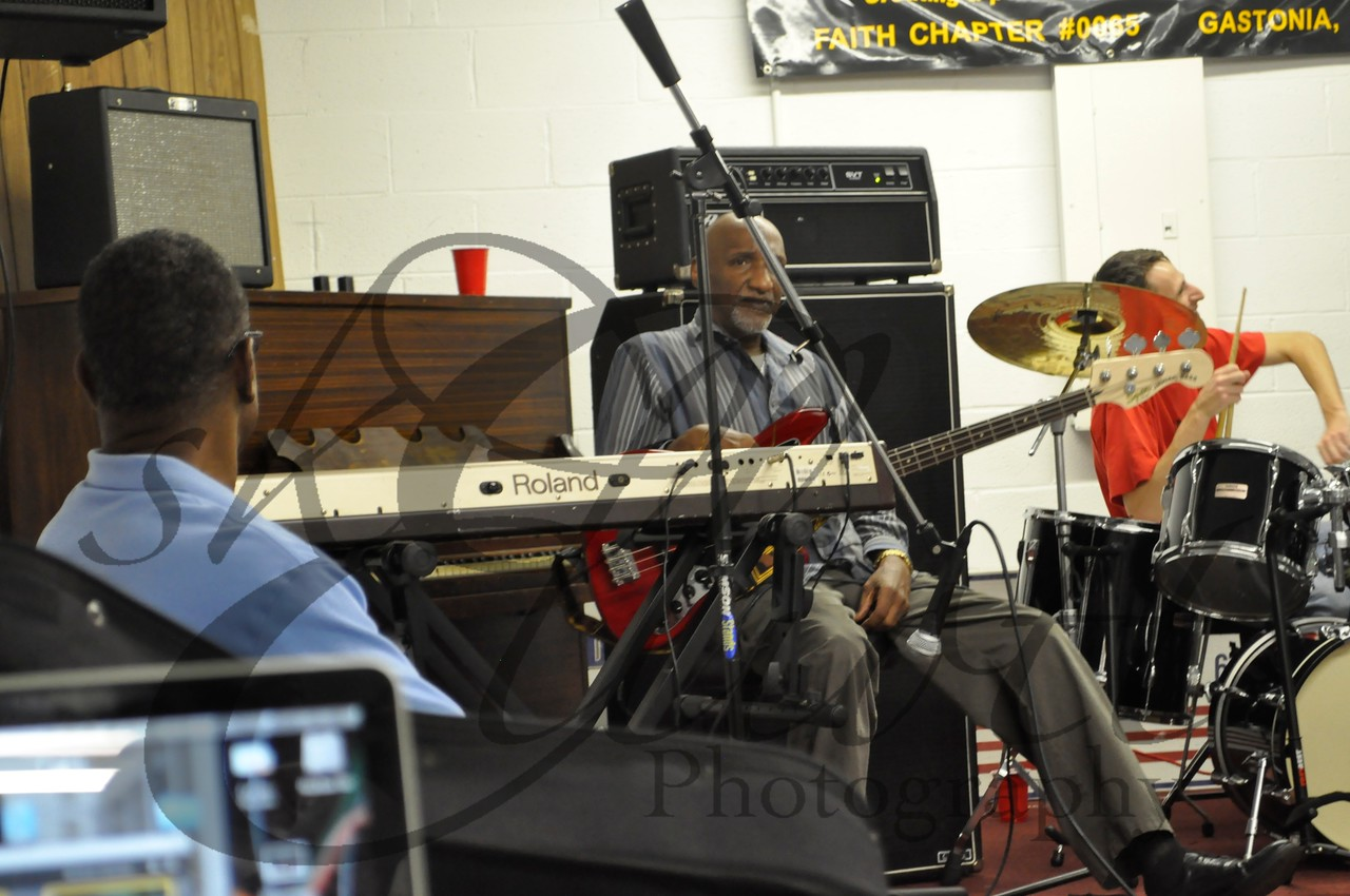 Moses WIlliams and Butch Lucas. A local sits in on Drums