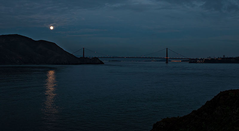 GG bridge from Pt Bonita, 6:08PM, 11/27/2012.