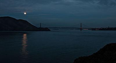 GG bridge from Pt Bonita, 6:08PM, 11/27/2012.