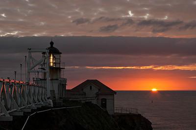 Pt. Bonita lighthouse, 5:54PM, 11/27/2012.