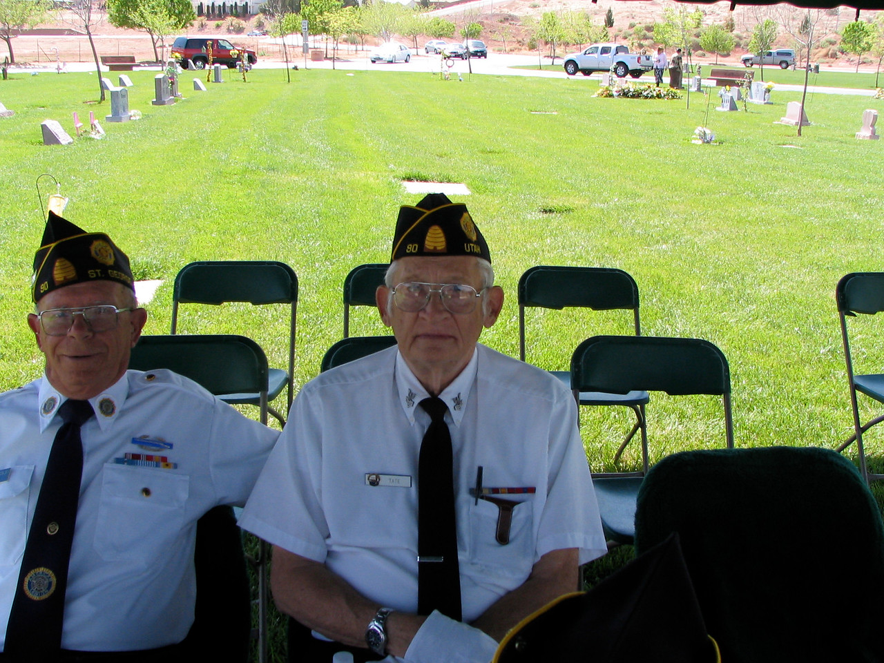 Lloyd Beardsley, Tooter, Honor Guard.   Leland Tate, Honor Guard.