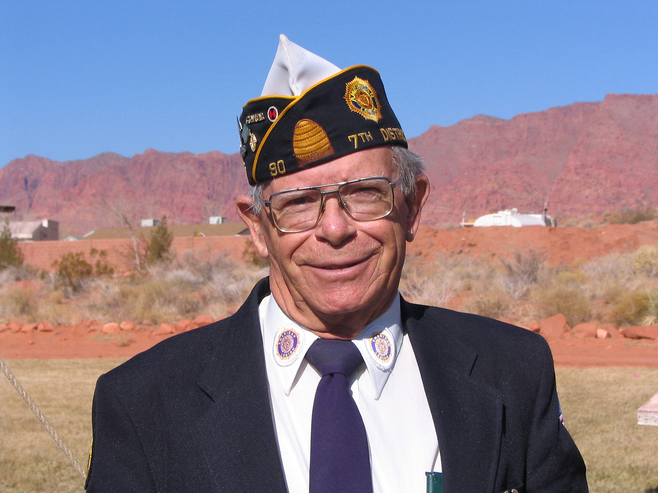 Lloyd Beardsly, Dist 7 Commander, Flag Detail, Tooter
