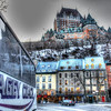 Hagey Coach in Old City Quebec with a view of The Frontenac Hotel
