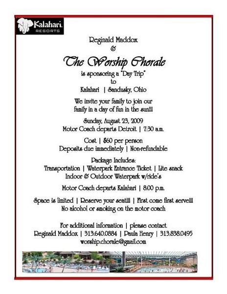 2009 Worship kalahari Flyer