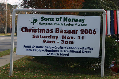 SONS OF NORWAY XMAS BAZAAR  HAMPTON ROADS # 3-522 2006 NOV 11