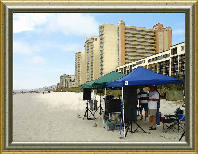 1  dj on the beach