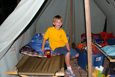 June 2006: Lucas Moyer, Schuylkill Haven Pack 625, at Webelos Extended Camp