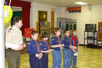 February 2006: Den Leader, Brian Moyer & den members, Blue & Gold Banquet