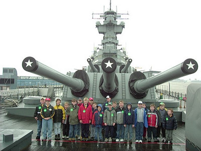 Saturday, April 2nd, 2005: Schuylkill Haven Cub Scout Pack visited the Battleship, New Jersey anchored on the Delaware River at Camden, NJ.