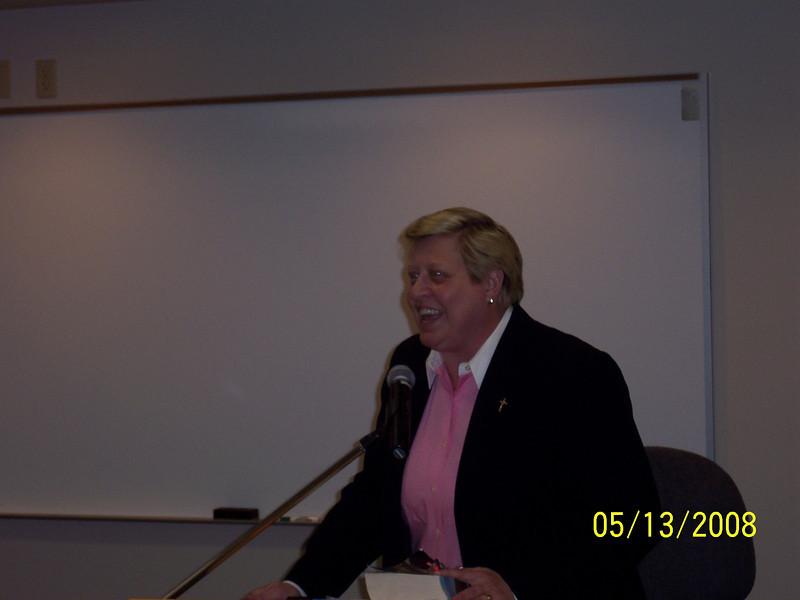 Guest speaker Audrey Ann Wilson, Pastoral Associate at St. Stephen Parish.