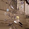 Art Opening: Kinetic sculpture hanging inside stairs movie