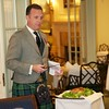 Burns Night: George Gilpatrick addressing the haggis, in doorway to Conservatory