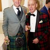 Burns Night: George Gilpatrick and Richard Milhender in lobby
