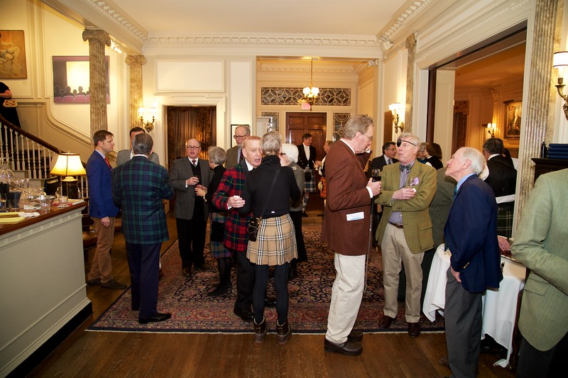 Burns Night: Group in lobby