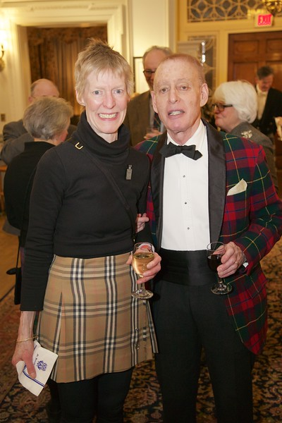 Burns Night: Diane and Richard Milhender in lobby